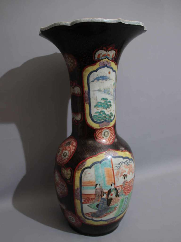 grand vase chinois porcelaine laque. Black Bedroom Furniture Sets. Home Design Ideas
