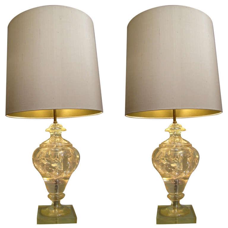 Etonnant Paire Lampes Resine P Giraudon (0).jpeg