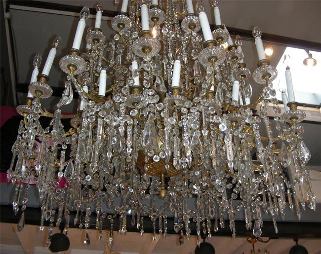 Grand Lustre En Cristal Et Bronze Dor 233 233 Poque Napol 233 On Iii