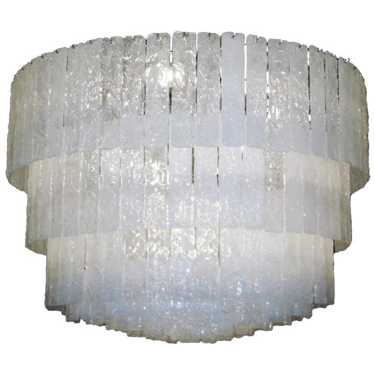 lustre plafonnier plaques de verre opalescent murano italie. Black Bedroom Furniture Sets. Home Design Ideas