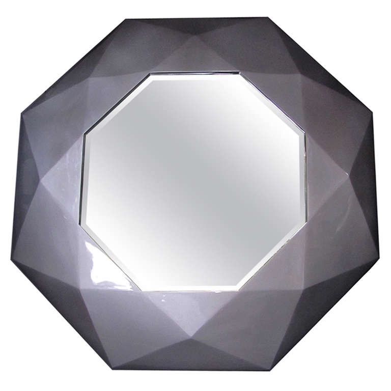 Miroir prisme gris for Grand miroir gris
