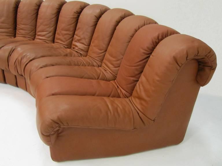 sofa de sede ds 600 douze l ments en cuir havane. Black Bedroom Furniture Sets. Home Design Ideas
