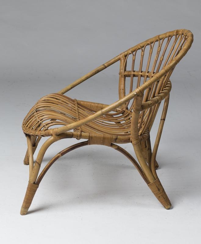 quatre fauteuils en rotin et bambou france 1950. Black Bedroom Furniture Sets. Home Design Ideas