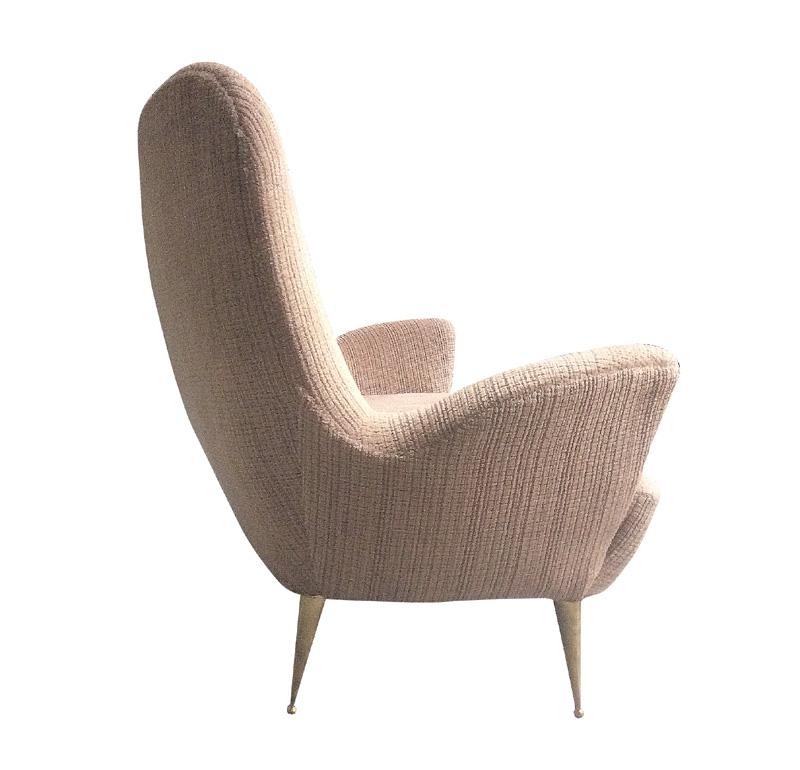 Salon canap deux places et deux fauteuils italie poque 1950 for Canape et deux fauteuils