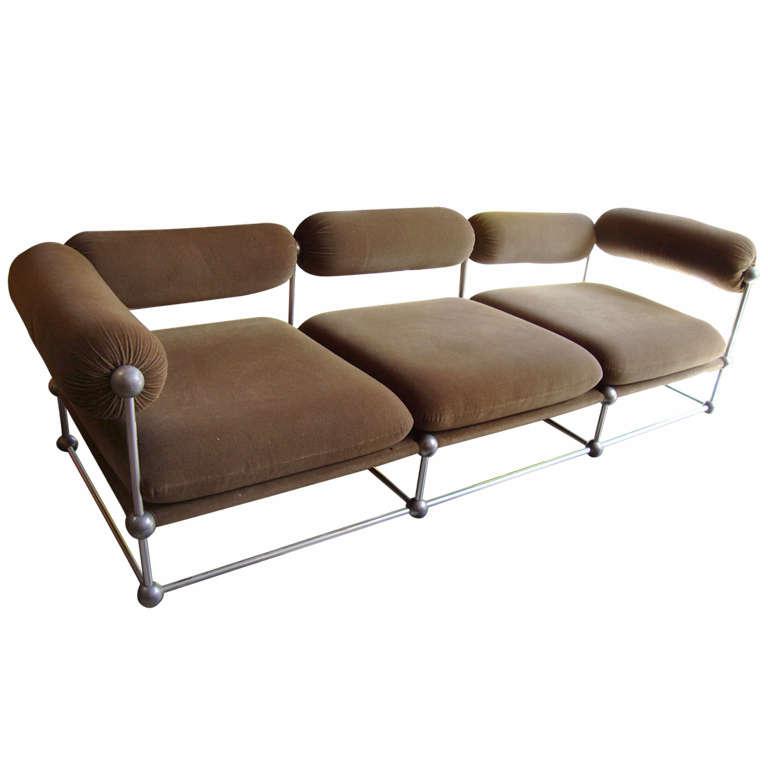 Verner panton rare ensemble d 39 un canap et de deux fauteuils s rie s 420 - Canape hauteur assise 60 ...