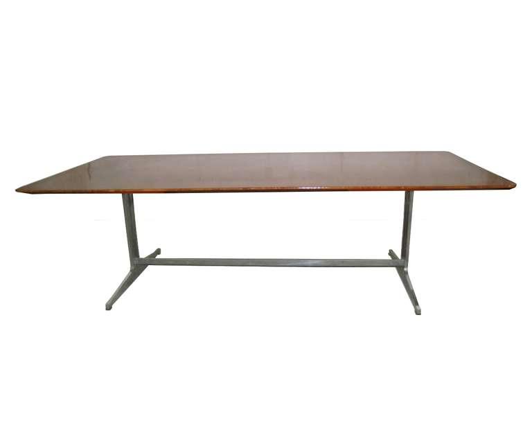 Exceptionnelle Grande Table Ou Bureau En Loupe D 39 Amboine Knoll International Circa 1965