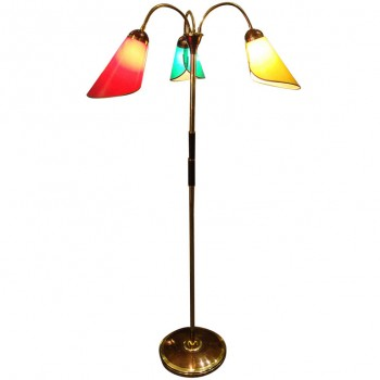 1950s three articulated arms floor lamp - Lampadaire 3 branches ...
