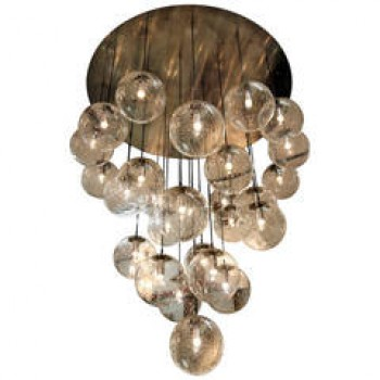 Amazing 1970 huge glass balls chandelier by raak amsterdam aloadofball Image collections