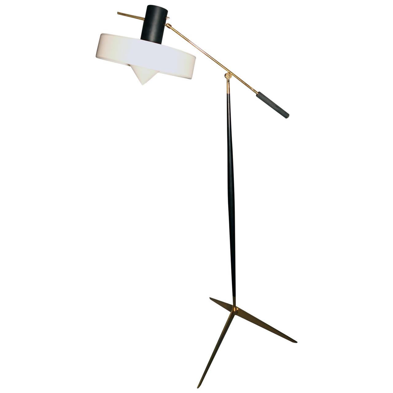 1950s Adjustable Floor Lamp By Lunel